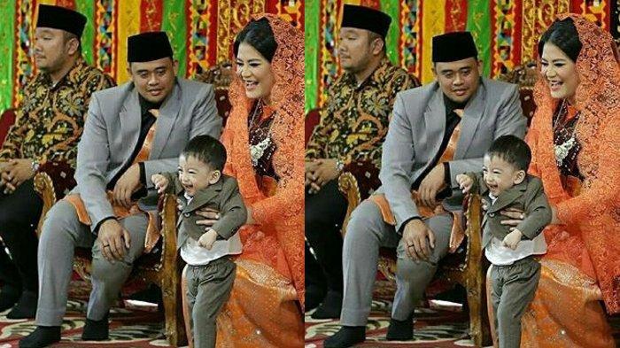 Potret Gemas Jan Ethes Cucu Jokowi di Pernikahan Kahiyang Ayu, dari Menari Tor-Tor hingga Kelelahan