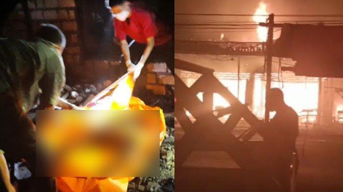 Janda Sebatang Kara Tewas Terpanggang di Glagah Lamongan, 7 Kios Terbakar di Babat, Ini Penyebabnya