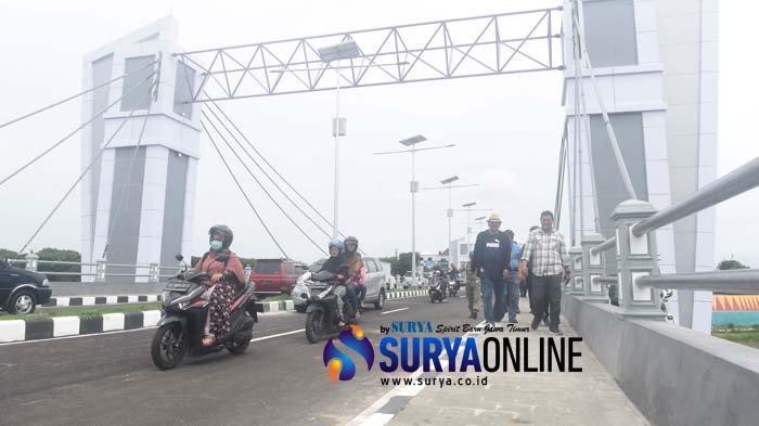 Jembatan Brawijaya Kota Kediri Dibuka untuk Uji Coba, Tahun Depan Diresmikan