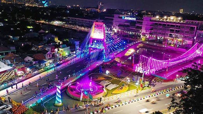 Begini Keindahan Jembatan Sawunggaling, Ikon Baru di Kota Surabaya