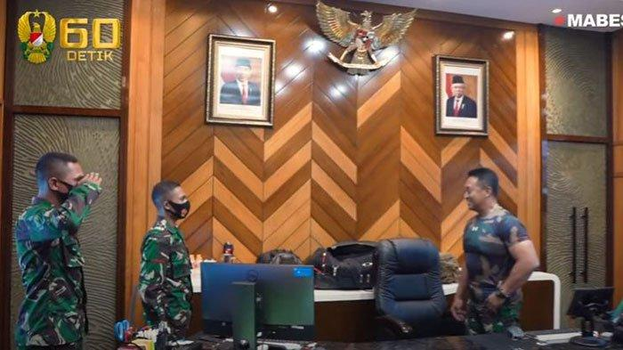Jenderal Andika Perkasa Apresiasi Langsung 2 Prajurit TNI yang Ajak Rekannya Bantu Pengobatan Bayi