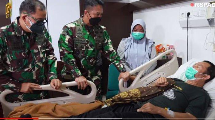 Jenderal Andika Perkasa Siap Bantu Kopka Ade Casmita hingga Pulih, Anaknya Ingin Jadi TNI AD
