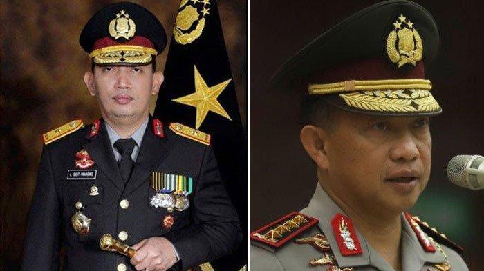 Jika Listyo Sigit (kiri) Jadi Kapolri Maka Rekor Tito Karnavian (kanan) akan Tersaingi