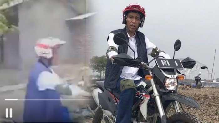 VIDEO - Pecah! Detik-detik Histerisnya Warga Kedatangan Jokowi Blusukan Naik Motor Trail