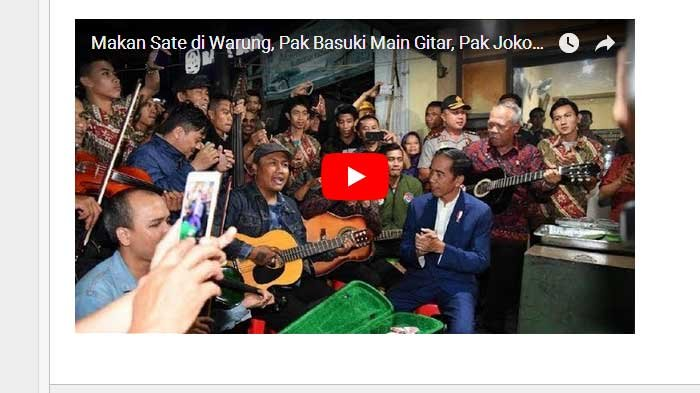 Asyik Seru! Video Jokowi 'Ngamen' Grudukan Menteri Basuki Main Gitar, 'Bahagia itu Sederhana'