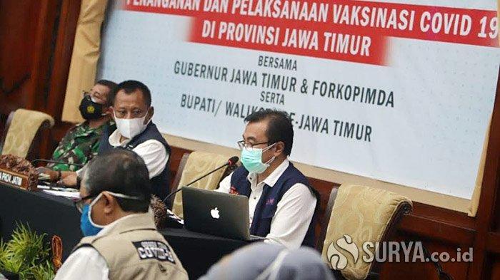 Berikut Daftar Para Pejabat dan Tokoh di Jawa Timur yang Diusulkan Vaksinasi Covid-19 Tahap Pertama