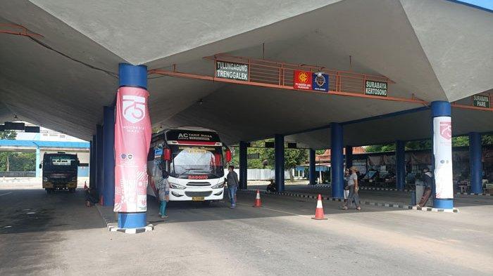 Jumlah Penumpang Bus di Terminal Tamanan Kota Kediri Menurun Selama PPKM Darurat