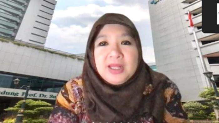 Juru Bicara Vaksinasi Covid-19 Kementerian Kesehatan Siti Nadia Tarmizi dalam konferensi pers virtual, Rabu (1/9/2021) (screenshot).