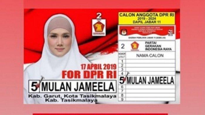 Kabar Bahagia Mulan Jameela Istri Ahmad Dhani, Banjir Selamat Diyakini Lolos Senayan di Pemilu 2019