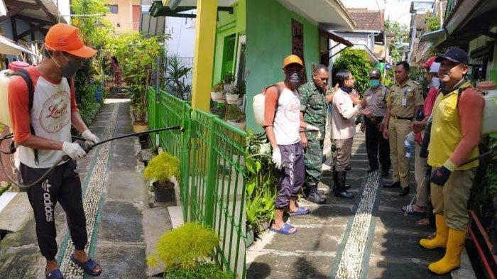 Cegah Penyebaran Virus Corona, Kampung Tematik di Kota Malang Semprot Disinfektan Mandiri