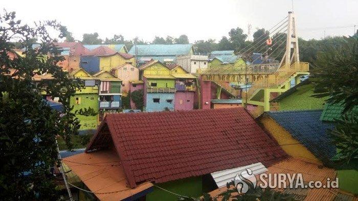 Kampung Warna-warni di Kota Malang Ditutup Gara-gara Wabah Virus Corona, Semua Akses Masuk Dijaga