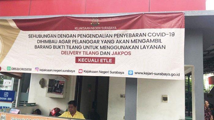 Hindari Kerumunan Untuk Mencegah Penyebaran Corona, Kejari Surabaya Batasi Layanan Pengurusan Tilang