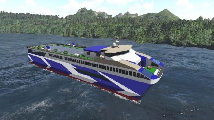 Kapal MV Lanterna Buatan Tim Nawasena ITS Juarai Kompetisi Desain Kapal Penyeberangan Internasional