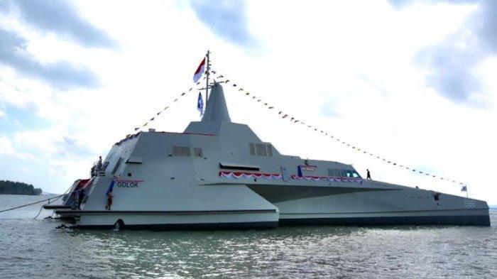 KSAL Luncurkan KRI Golok, Kapal Perang 'Siluman' Buatan Banyuwangi