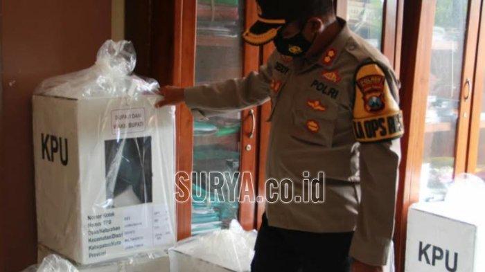 Distribusi Logistik Surat Suara di 4 Kecamatan di Utara Kabupaten Mojokerto Dikawal Polisi