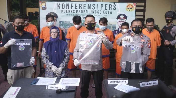 Polisi Bekuk 6 Pengedar Narkoba Sasar Muda-Mudi di Kota Probolinggo, Sabu Dipesan dari Luar Kota