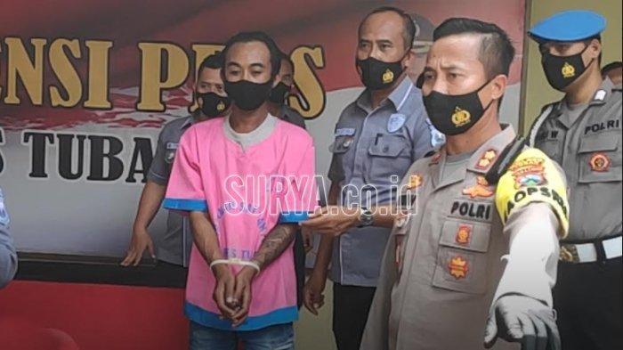 Kapolres Tuban AKBP Ruruh Wicaksono saat ungkap kasus begal payudara, Selasa (3/11/2020)