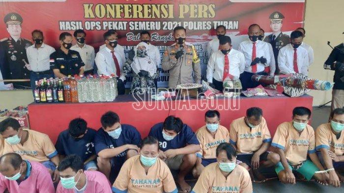 Prostitusi dan Miras Mendominasi Selama Operasi Pekat Semeru di Kabupaten Tuban