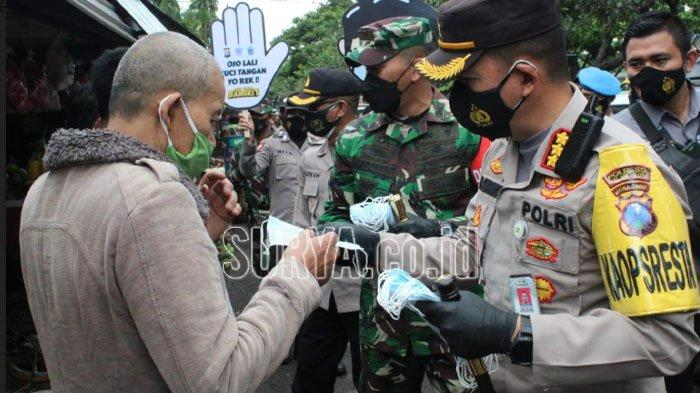Seperti Ini Upaya TNI / Polri Cegah Penyebaran Covid-19 di Wilayah Kota Malang