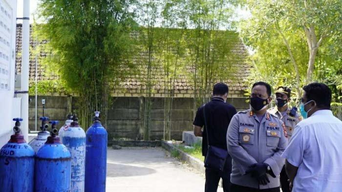 Pastikan Stok Tabung Oksigen Medis di Bojonegoro Aman, Kapolres Cek Pasokan di Samator Wase Gas