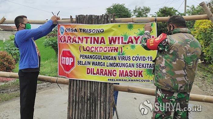 Satu Keluarga Terpapar Covid-19, Akses Satu Kampung di Desa Trisono Ponorogo Ditutup