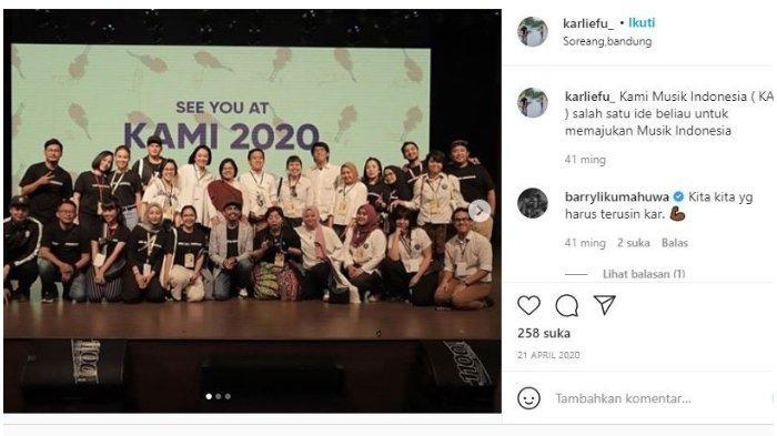 Karlie Fu mengikuti acara KAMI pada April 2020