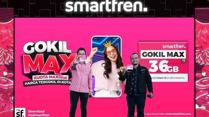 Smartfren Gokil Max Nikmati Kuota Data Terbesar dan Harga Paling Gokil