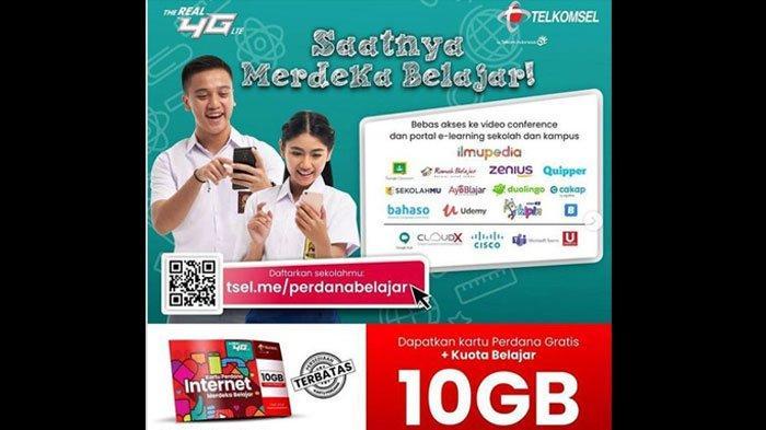 Cara Beli Kuota Murah Telkomsel Cuma 10 Rupiah, Ada Bagi-bagi Kartu Perdana Internet Gratis 10 GB