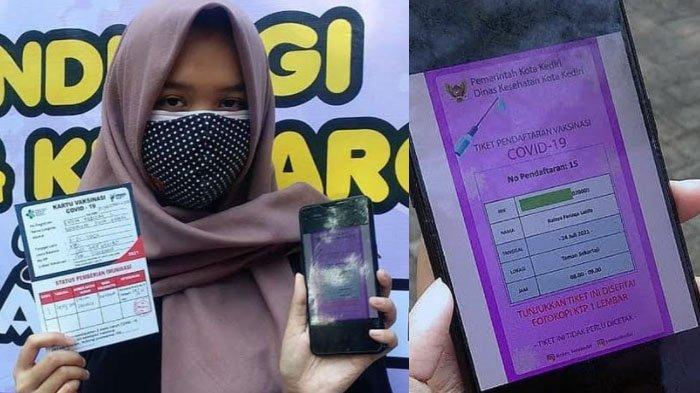 Pendaftaran E-Tiket Vaksinasi Covid-19 Kota Kediri, Ludes Diserbu Dalam Walktu 2 Jam