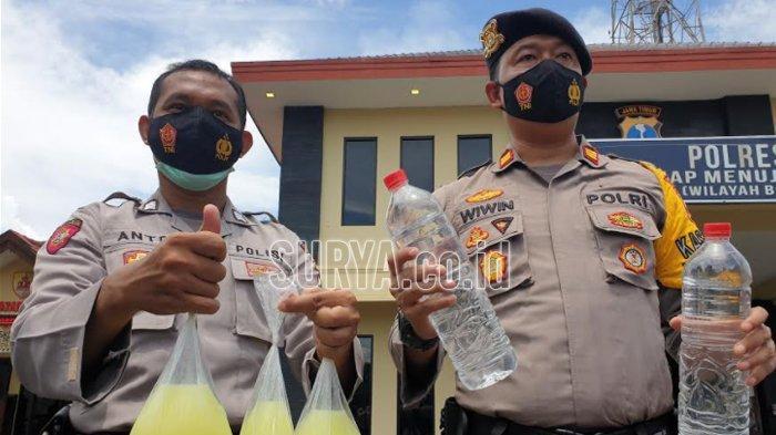 Polisi Kota Mojokerto Sita Miras Oplosan, Hendak Diedarkan Malam Pergantian Tahun Baru 2021