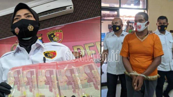 Pria Mojokerto Edarkan Uang Palsu Rp 23 Juta untuk Transaksi Bisnis Tokek, Ngaku Dapat dari Surabaya