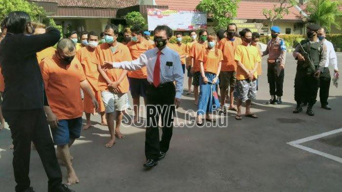 Operasi Tumpas dan Sikat Narkoba, Polisi Tangkap 29 Tersangka di Kota Kediri