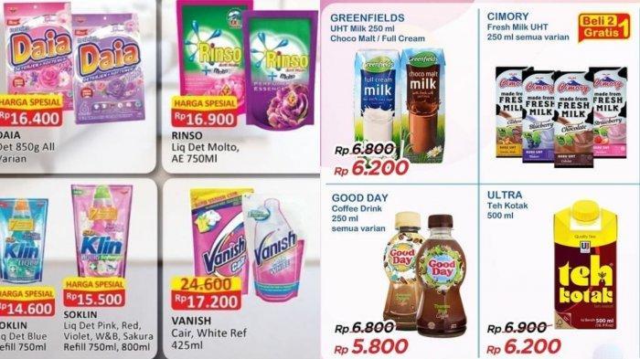 Katalog Promo Alfamart dan Indomaret Hari ini: Cashback Rp 20.000 Untuk Produk Susu, Kebutuhan Dapur
