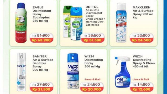 Promo Alfamart dan Indomaret Senin 26 Juli 2021, Diskon Disinfektan Hingga Beras Murah