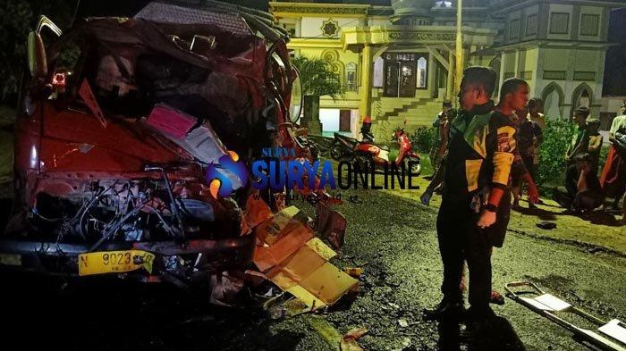 Kecelakaan Tronton Vs Truk Tangki Air di Bangkalan, 2 Orang Tewas