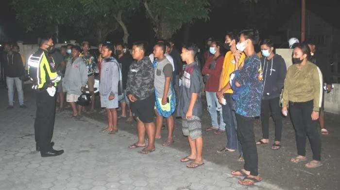 Sempat Kejar- kejaran dengan Polisi, Puluhan Remaja Diamankan dari Lokasi Balap Liar di Kediri