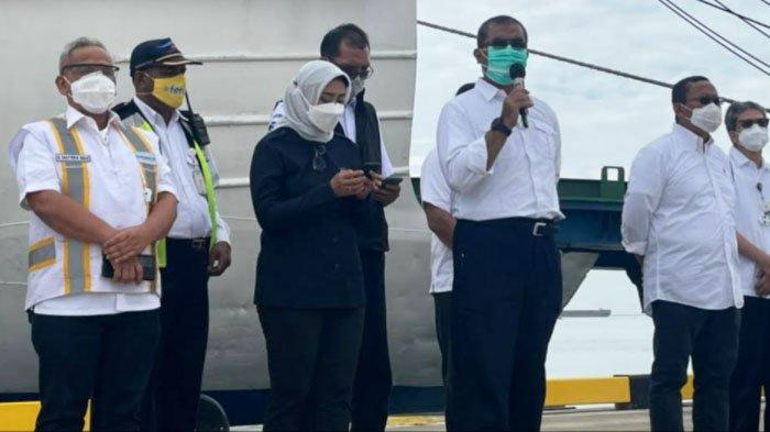 Pelabuhan Patimban Subang Jabar yang Dikelola Pelindo III Launching Pelayaran Perdana