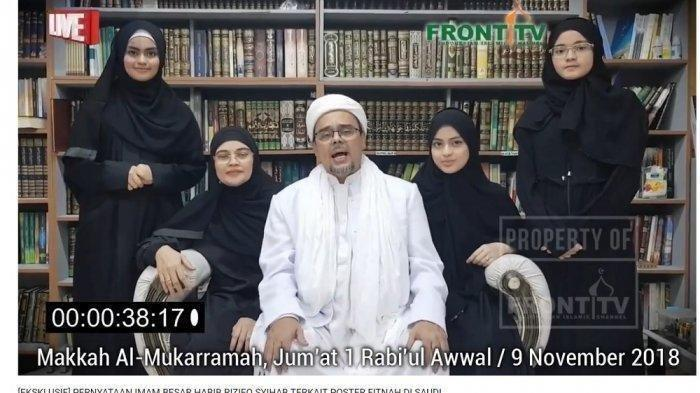Habib Rizieq Shihab dan sebagian keluarga