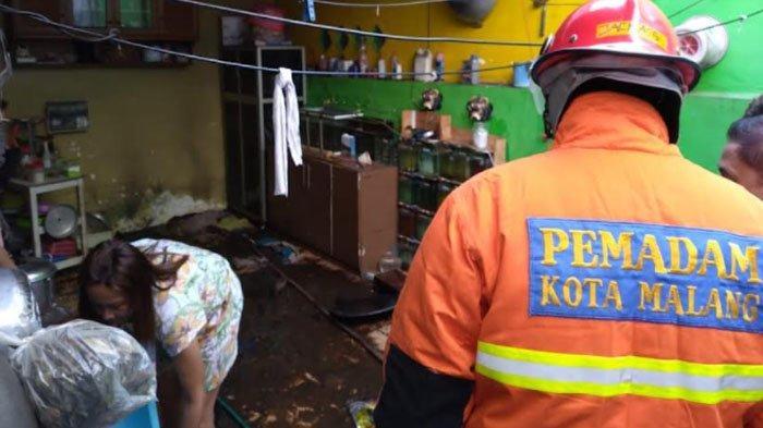 Selang Regulator Elpiji 3 Kg Bocor, Dapur Rumah Warga Kota Malang ini Nyaris Terbakar
