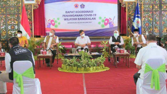 Menkes dan Kepala BNPB Tinjau Lonjakan Covid-19 di Kabupaten Bangkalan