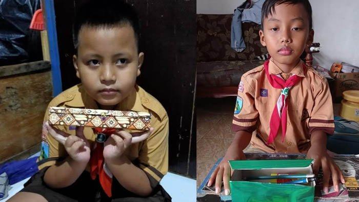 Kreasi Kardus-kardus Bekas ala Siswa SDN Rangkah I Surabaya