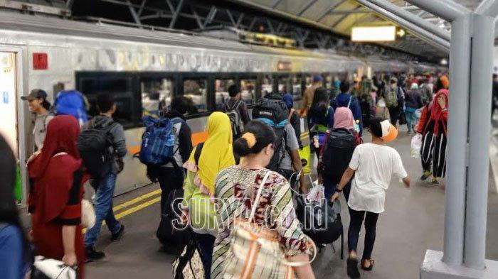 Segini Jumlah Penumpang yang Mudik dan Balik Lebaran Pakai Kereta Api di Daop 8 Surabaya
