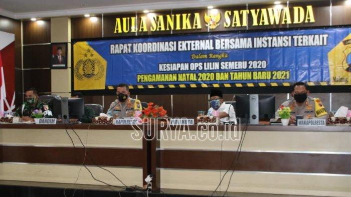 Operasi Lilin Semeru 2020, 800 Personil Gabungan Amankan Natal dan Tahun Baru di Kota Malang