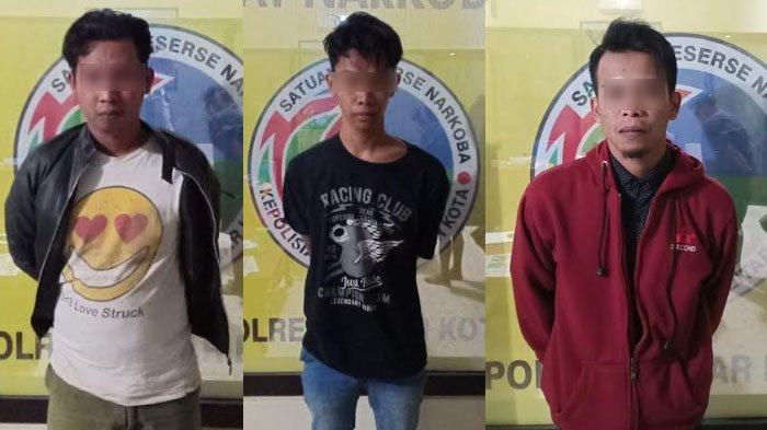 Polisi Bekuk Tiga Pengedar Pil Dobel L yang Sering Bertransaksi di Kota Blitar