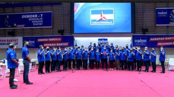 Di Hadapan SBY, Emil Dardak bersama Ketua Demokrat Provinsi se-Indonesia Ikrar Kesetiaan kepada AHY