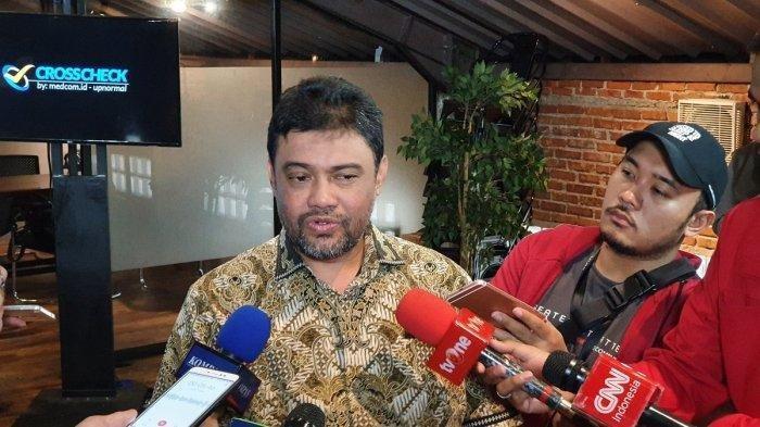 Ketua KSPI Said Iqbal saat diwawancarai awak media