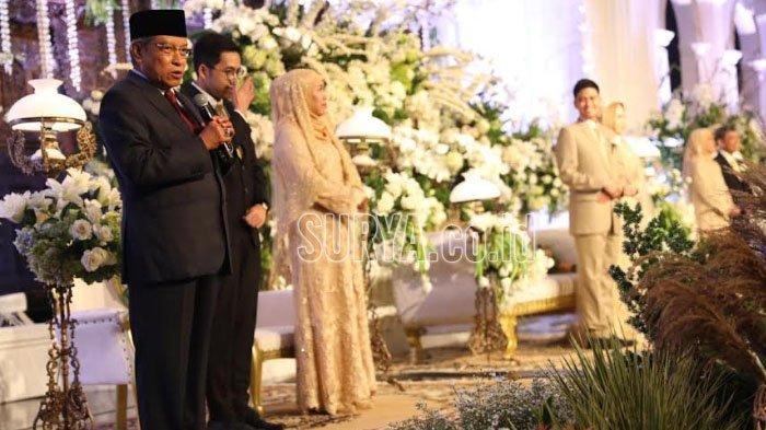 Ketum PBNU Said Aqil Siradj Beri Mauidhoh Hasanah Pernikahan di Resepsi Putri Khofifah