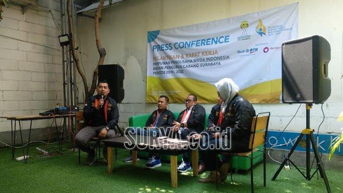 Pelantikan Ketua Umum dan Pengurus BPC HIPMI Surabaya, Gandeng BTN dan Dana Prospera