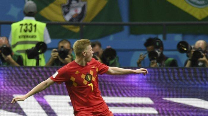 Kevin De Bruyne jadi starter untuk pertama kalinya di Euro 2020.