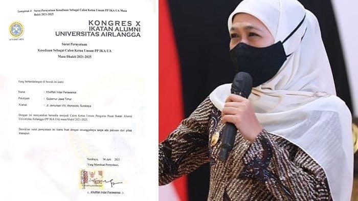 Gubernur Khofifah Akui Daftar Jadi Ketua IKA UA, Dapat Dorongan dari Teman-teman